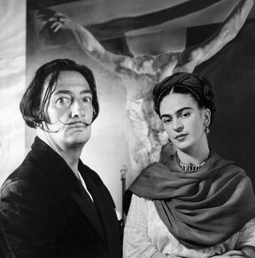Two Legends Fridakahlo and Salvadordali , Painting Art