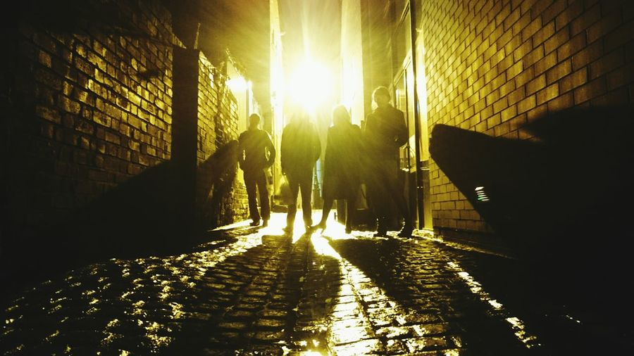 Silhouette Alleyway Alley Cat Alleyways Darkness And Light Darkness And Beauty Dark And Light Wet Cobbles Drama