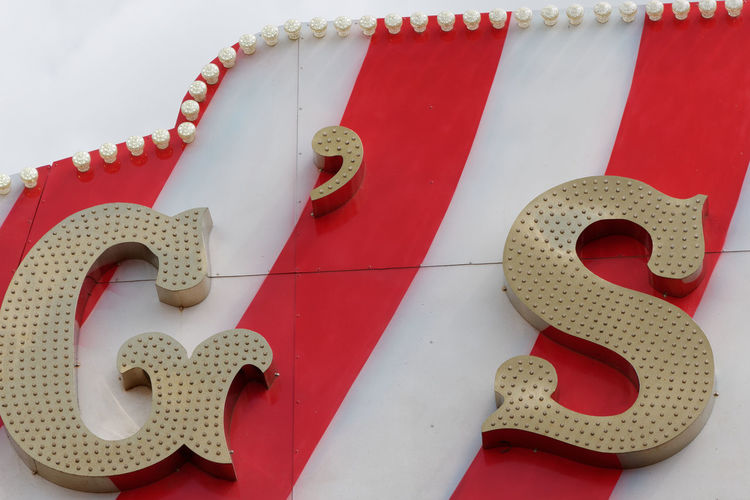Close-Up Of Alphabets On Circus Tent