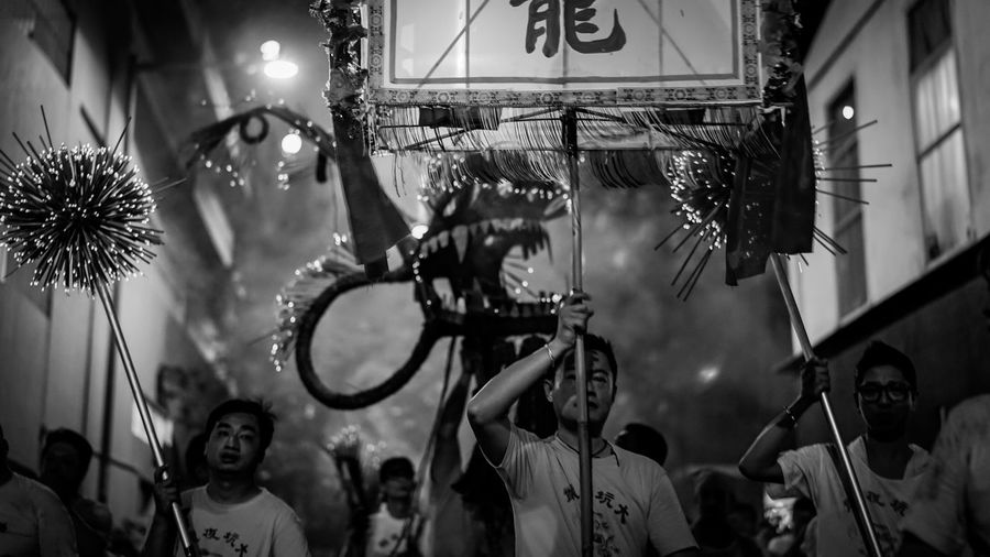 Parade Dragon Discoverhongkong Nightshooters Black And White Monochrome 香港 EyeEm Best Edits Hello World From My Point Of View Festival Midautumnfestival Our Best Pics Firedragon Taking Photos Walking Around Urban Exploration EyeEm Gallery EyeEm Masterclass EyeEm Best Shots Zeiss Culture Traditional Monochrome Photography Sonyimages Sel50f14z Ilce-7m2