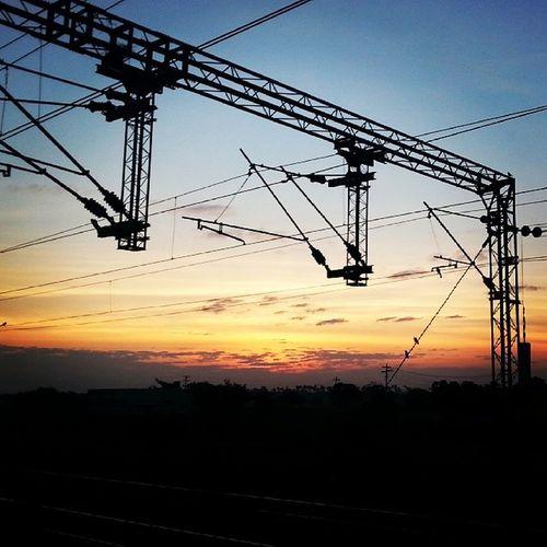 Sunrise Courtesy Indian Railways South Electric Locomotive Electricity  Samsung Galaxy Instagram Chennai Trivandrum