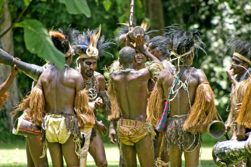 Papua New Guinea highland warriors music group - Lae, Papua New Guinea, Australasia Papua New Guinea Music Troup Australasia Close-up Day Feather Head Dress Growth Hand Drums Human Representation Mammal Nature No People Outdoors Statue Been There.