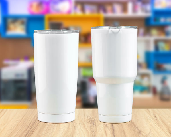 Stainless steel tumbler mug on wooden backdrops. Template of insulated mug for design. Container Drinks Thermos Aluminum Bottle Can Canteen Container Cup Drink Drinking Glass Flask Food And Drink Glass - Material Metal Mug Product Refreshment Stainless Steel  Steel Table Vessel Water White Wood - Material