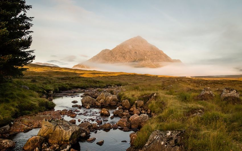 Buachaille Etive Mor Glencoe KingsHouse Mountains Mountain Mountains And Sky Mountain_collection Mountain View Scottish Highlands Scotland Landscape Landscape_Collection Landscape_photography Landscapes River Sunrise Golden Hour Cloud Inversion Misty Morning Trees Meadow Moor  Mist Outside Outdoors