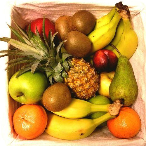 Full frame shot of fruits in box