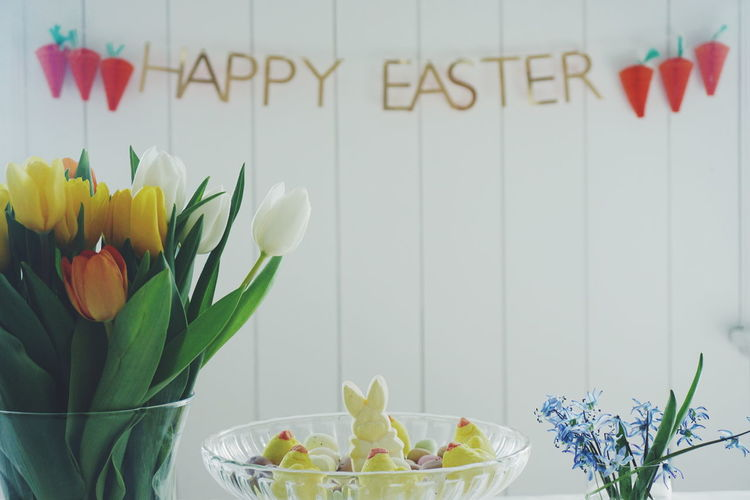 Easter Decoration And Cookies At Home