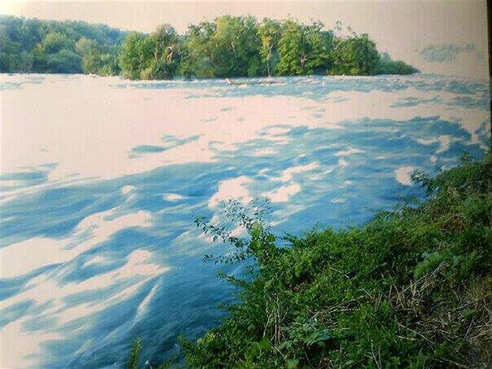 River Waterscape Fantasy Nature Slow Shutter Nikon P510 Water Niagara Falls Niagara River, NY