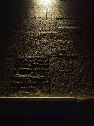 Pordenone Italy Night Photography Night Lights Spot Light Placed Above A Stone Coated Wall Night Shades Low Angle Lights Pattern Pieces Mobile Photography Art Fineart Mobile Editing
