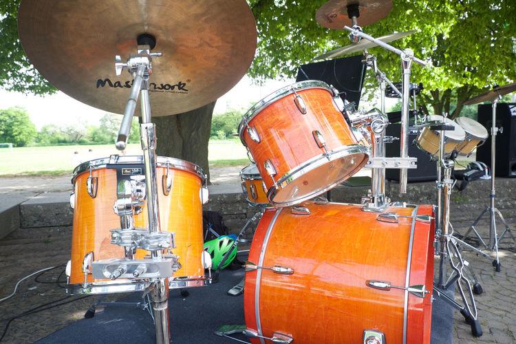 Drums Green Instrument Music Instrument Musicians Ourdoor Tree Trombone