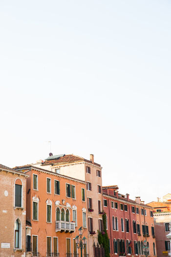 Building Exterior Built Structure Architecture Copy Space House Row House Apartment Venice, Italy Venice Italy Travel Destinations Warm Colors Italian