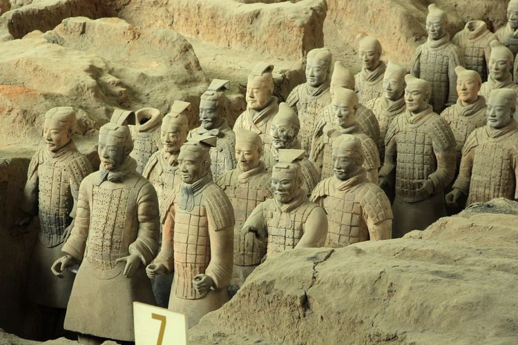 Terracotta Soldiers In Museum