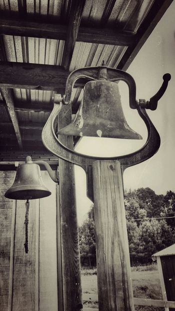 Dinner Bell Upclose And Personal Black And White Photography Walking Around Antiquated Technology