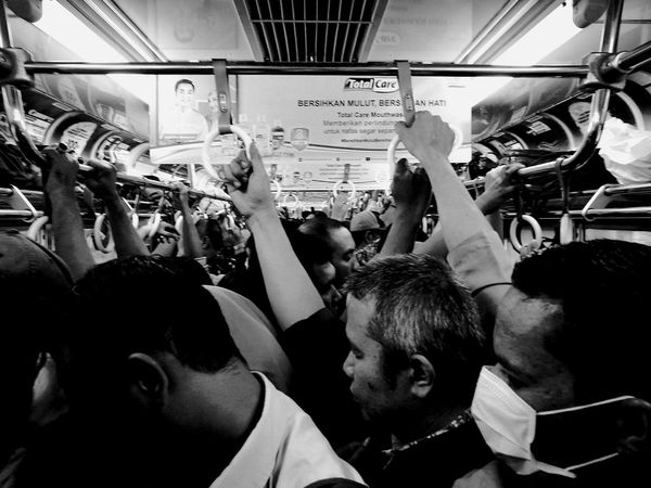 Homeward bound Crowd Large Group Of People Commuter Train Commuters View Commute Scenery