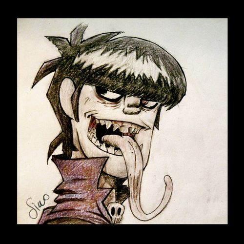 Murdoc from Gorillaz DemonDays Gorillaz Murdoc Drawing draw music traditionaldraw