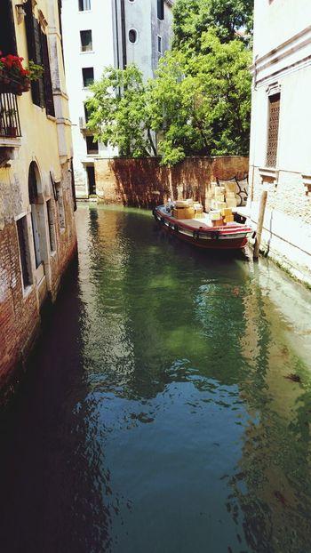 Venice, Italy Water Waterroads Standing On A Bridge