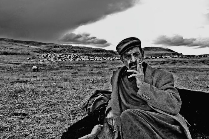 Sheepherd Sheepman Sheep🐑 People Portrait Shadows & Lights Black & White Peoplephotography Monochromatic Blackandwhite Photography Dark Photography B&W Portrait People_bw Life Enjoying Life Hello World Hi! OpenEdit Village Kurdish People
