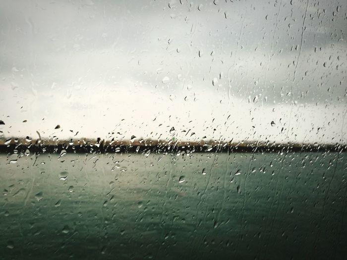 rainy day on