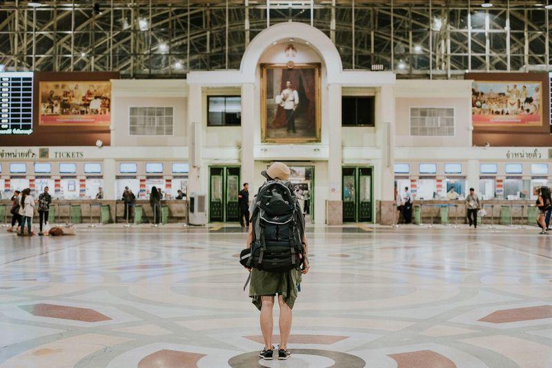 Thailand Bangkok Bangkok Thailand. Backpacker Hua Lamphong Railway Station, Bangkok, Thailand Life Is Simple Life In Simplicity Streetphotography