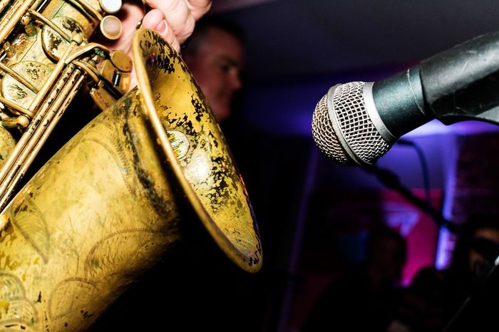 Arts Culture And Entertainment Close-up Day Focus On Foreground Gold Gold Colored Human Body Part Human Finger Human Hand Indoors  Men Microphone Music Musical Instrument Musician Nightclub One Person People Performance Saxophonelife Saxophoneplayer Saxophonist Skill