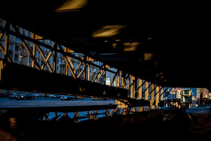 Bridge - Man Made Structure Built Structure Architecture Illuminated Outdoors City Construction Sunset Summer The Architect - 2017 EyeEm Awards