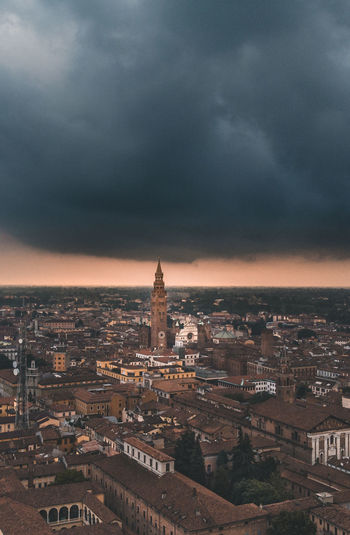 Cremona Stormy Drone Cremona Lombardia Italy History Architecture Travel Destinations Building City Sky Cloud - Sky Tower Storm TOWNSCAPE Drone  Dronephotography