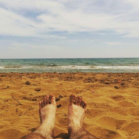 Primer dia de Playa del año Calblanque Murcia Lamanga Beach Mediterraneo Mar Sea