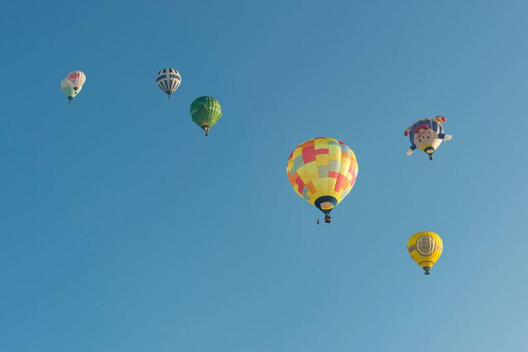 Hot air balloons in oeventrop arnsberg in the morning. warsteiner international montgolfiade