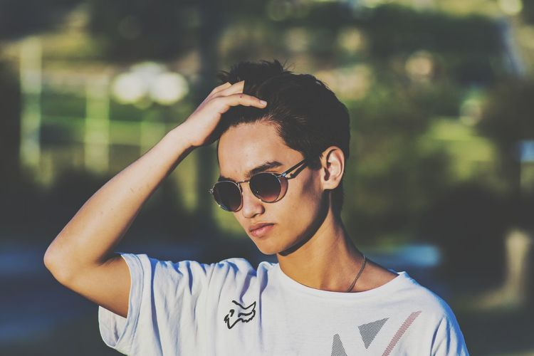 Young man wearing sunglasses