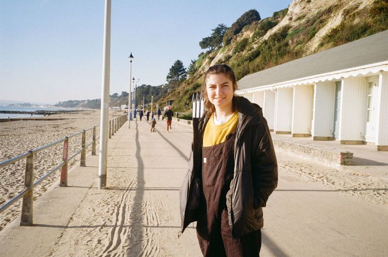 Analogue Photography 35mm Looking At Camera One Person Portrait Beach Incidental People Architecture Standing Women Nature Outdoors