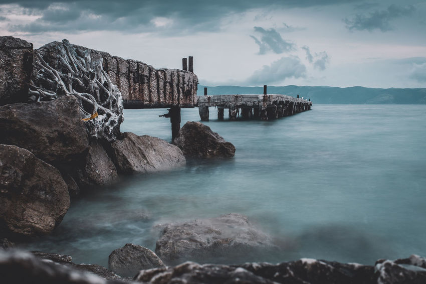 Photo taken in Albania during the Easter holidays. Day Long Exposure Motion Nature No People Outdoors Sea Sky Water