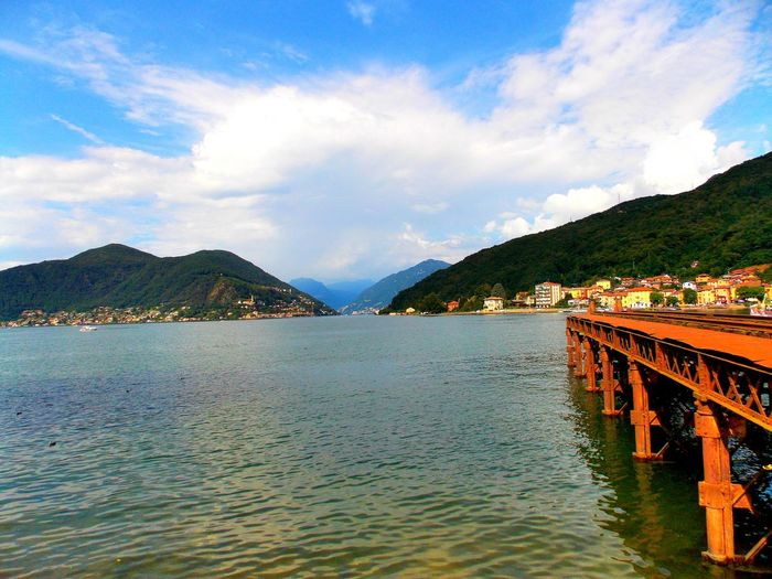 Beauty In Nature Blue Cloud Cloud - Sky Cloudy Idyllic Lago Di Lugano  Looking For Freedom Lugano Lake Majestic Mountain Mountain Range Nature No People Non-urban Scene Outdoors Rippled Scenics Sky Tourism Tranquil Scene Tranquility Travel Destinations Water What's On The Roll
