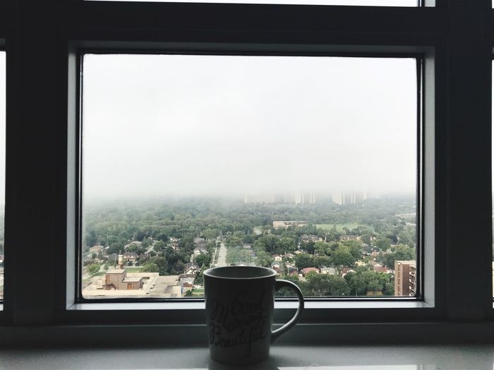 Window Transparent Indoors  Sky Glass - Material No People Day Nature Architecture Tree Clear Sky Cup Cityscape Plant Window Sill Mug Potted Plant Glass Built Structure