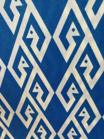 Thai fabric Fabric Thai Fabric Pattern Blue And White Design Decoration Textures And Surfaces Abstract Full Frame Backgrounds Pattern No People Blue Day Multi Colored Close-up Seamless Pattern