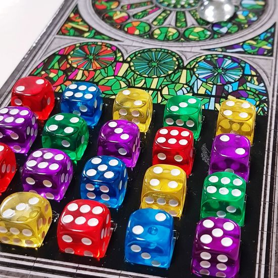 Sagrada boardgame Boardgames Game Dices Colors Sagrada Familia Multi Colored Gambling No People Indoors  Close-up Day Chance