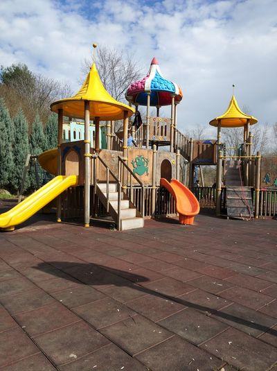 Childhood Multi Colored Beach Sand Playground Sky Cloud - Sky
