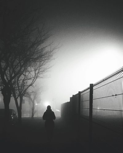 Get through the fence | #ShotOniPhone6S | edit with Snapseed app Silhouette One Person Youmobile Shootermag ShotoniPhone6s Fog Welcome To Black