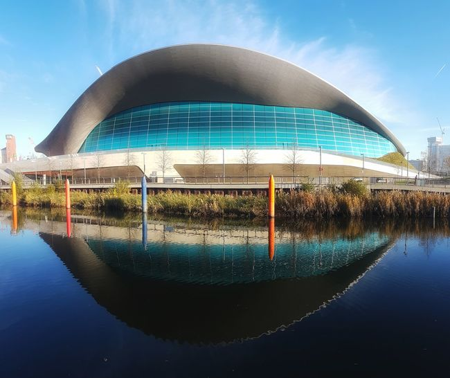 Building Exterior Water Architecture Dome Sky Reflection Built Structure Outdoors No People Cloud - Sky City Modern Day Nature Olympics Olympic Park  London Stratford West Ham Utd Cityscape