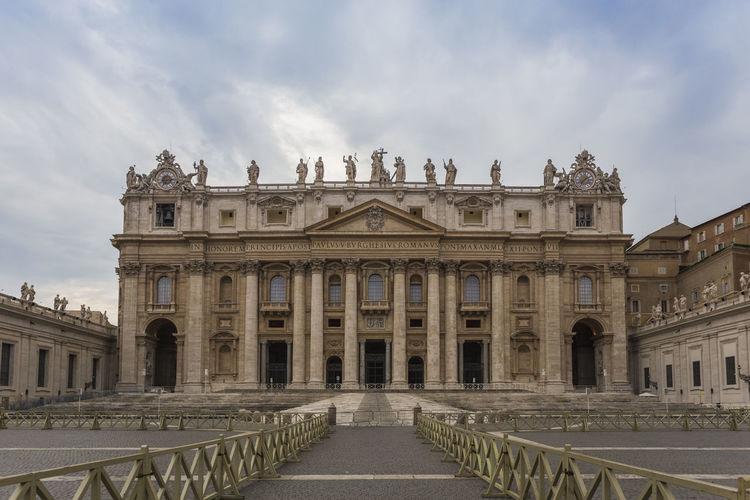 Historical Building Against Cloudy Sky