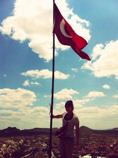 Türkiye Nevsehir Turkey Cappadocia/Turkey Cappadocia Yusufdeli Göreme Selfportrait Iloveturkey Nationalflag