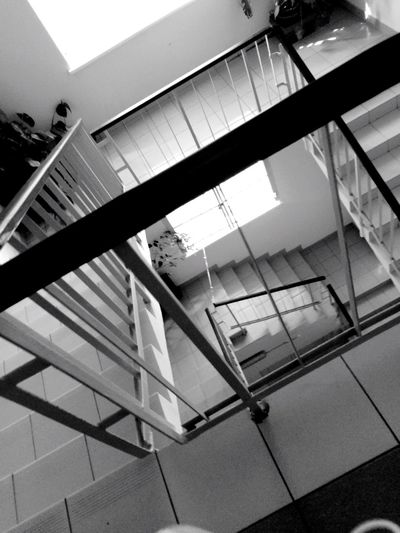 Black And White Monochrome Stairs