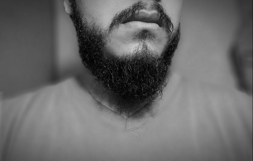 Light And Shadow Beard Life Beardstyle Today's Hot Look Men Style Beard Black & White Black And White Creative Light And Shadow