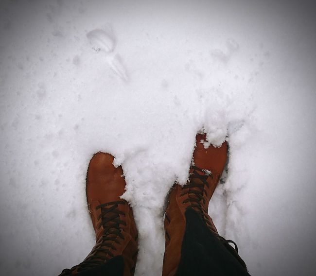 snow Snow ❄ Snow Neige Bottes Limb One Person Human Body Part Human Foot Low Section Human Leg Shoe