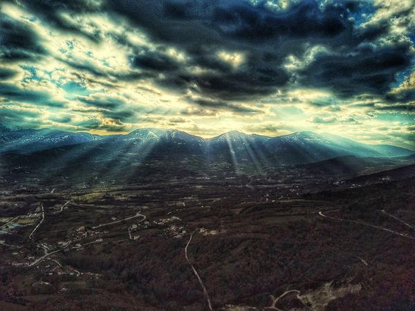 Aerial Lanscape, Matese Monte Miletto - Molise Italy Aerial Photography Mountain Cloud - Sky Landscape Tranquil Scene Beauty In Nature Nature Scenics Tranquility Outdoors Sky