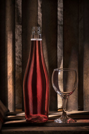 Wine Light Stripes Alcohol Alcoholic Drink Bottle Wine Close-up Day Glass No People Shadow Wine Wood - Material Wooden Box