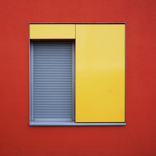 Closed Window Shutter On Wall