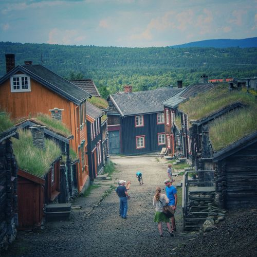 Røros Tourism Norway Historic City Historical Building History Old Old Buildings Røros Cold Days Summertime Traveling Travel