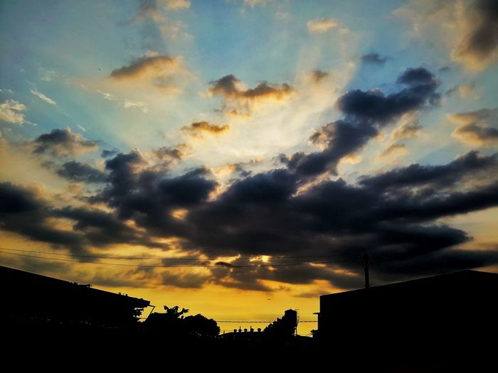 my view every sunset was great helping me to live my life more Sunset Cloud - Sky Dramatic Sky Nature Silhouette Outdoors Sky No People Scenics Beauty In Nature Day