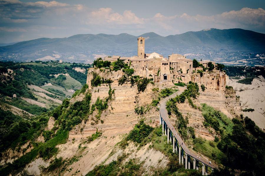 Civita di Bagnoregio Ancient Architecture Bagnoregio Bridge Built Structure Civita Di Bagnoregio History Italy Mountain Outdoors Sky Travel Destinations