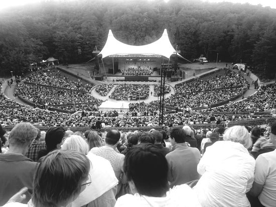 Liszt + Wagner Classical Concert Orchestra Blackandwhite People Rows Of Things Audience Birdseyeview Waldbühne Berlin A Bird's Eye View