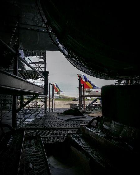 Beyond the hangar door Mechanic Aircraft Mechanic Avionics Sky Aircraft Rudder Maintenance Work Engineers Aviation Aviationphotography Aviationlovers Airman Plane First Eyeem Photo